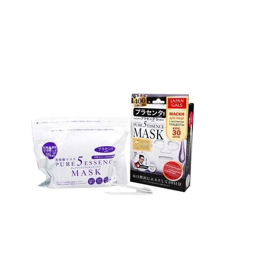 Japan Gals Маска с плацентой Pure 5 Essential, 30 шт. / 006587