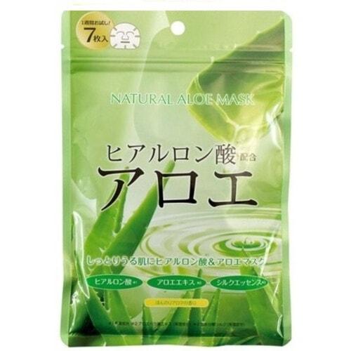 Japan Gals Натуральные маски для лица с экстрактом алоэ, курс 7шт