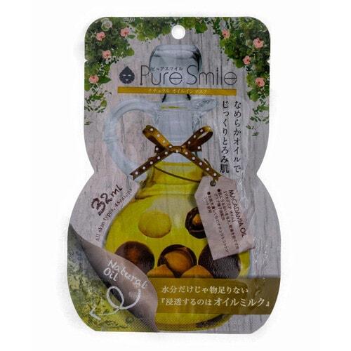 Pure Smile Natural Oil-in-Mask Регенерирующая косметическая маска для лица с маслом макадамии, коллагеном, гиалуроновой кислотой, 32 мл