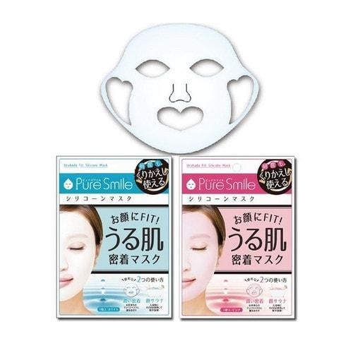 Pure Smile Трёхмерная увлажняющая многоразовая силиконовая маска (розовая)