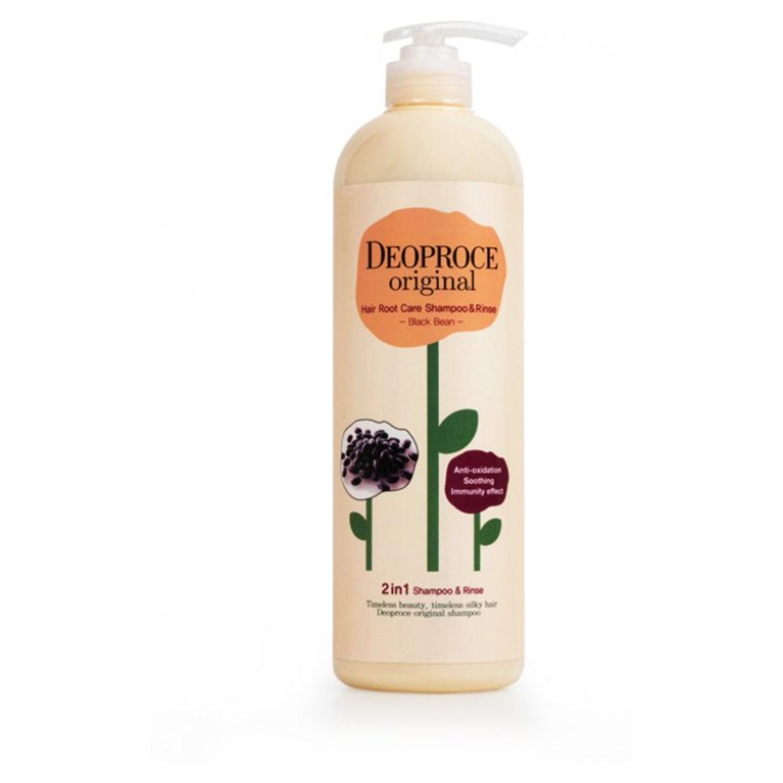 762516 DEOPROCE Original Hair Root Care 2 in 1 Shampoo Шампунь-бальзам 2 в 1 бобы, 1000 мл.