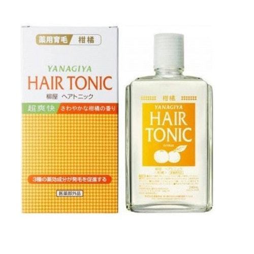 Yanagiya Hair Tonic Тоник для стимуляции роста и предотвращения выпадения волос с ментолом и ароматом цитрусовых