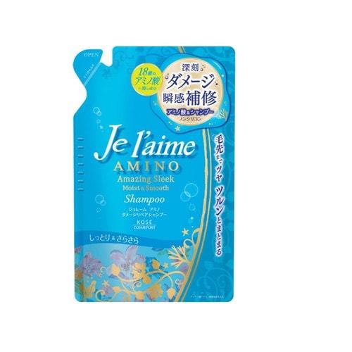 KOSE  Je l'aime - Amino Шампунь для повреждённых волос  с аминокислотами, см. бл., 400 мл./ 391312