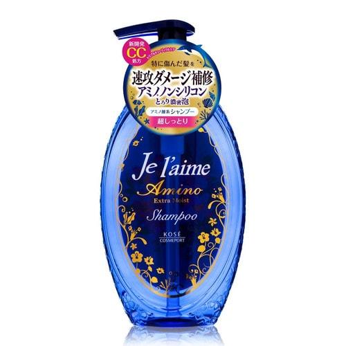 KOSE  Шампунь с аминокислотами для поврежденных волос Экстраувлажнение  Je l'aime Amino, фруктово-цветочный аромат, 500мл/ 387698