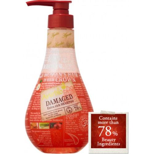 AYURBIO Red Botanical Power Shampoo Шампунь увлажняющий и восстанавливающий на растительной основе (без нефтяных ПАВ, без сульфатов), 500 мл/ 540095