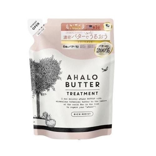 AHALO BUTTER Treatment Rich Moist Восстанавливающий бальзам-ополаскиватель с тропическими маслами, йогуртом и медом (без сульфатов) 400 мл./ 561926