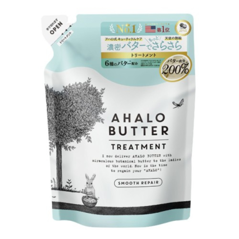 AHALO BUTTER Treatment Smooth Repair Восстанавливающий бальзам-ополаскиватель для гладкости, блеска и здорового роста волос (без сульфатов) 400 мл./ 562251