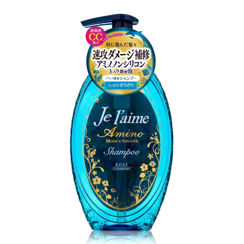 Шампунь для поврежденных волос с аминокислотами Гладкость и увлажнение KOSE COSMEPORT Je l'aime Amino, фруктово-цветочный аромат, 500мл/ 387759