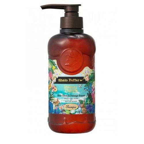 AHALO BUTTER Shampoo Hawaiian Organic Шампунь растительный для объема, восстановления и шикарного блеска волос (без сульфатов и силикона), 500 мл / 560974