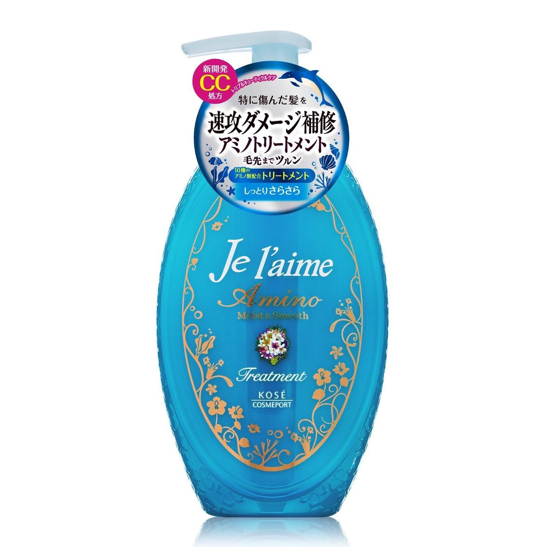 Тритмент для поврежденных волос с аминокислотами Гладкость и увлажнение KOSE COSMEPORT Je l'aime Amino, фруктово-цветочный аромат, 500мл/ 387766